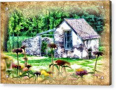 Country Garden Acrylic Print by Bill Cannon