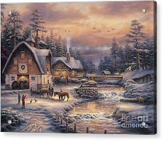 Country Holidays 2 Acrylic Print by Chuck Pinson