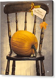 Country House Chair Acrylic Print by Amanda Elwell