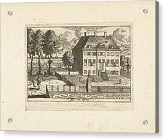 Country House With Falconer, Cornelis Elandts Acrylic Print
