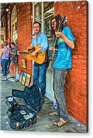 Country In The French Quarter - Paint Acrylic Print by Steve Harrington