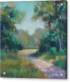 Country Lane Acrylic Print by Virginia Dauth