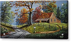 Country Life Acrylic Print by Gary Adams