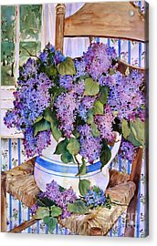 Country Lilacs Acrylic Print