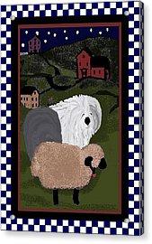 Country Night Sheepdog Acrylic Print