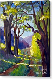 Acrylic Print featuring the painting Country Road by Carol Hart