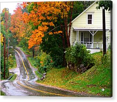 Country Road Acrylic Print by George Cousins