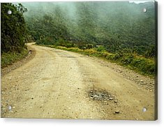 Country Road In Colombia Acrylic Print by Jess Kraft