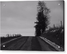 Country Road In Winter Acrylic Print by Dan Sproul
