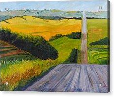 Country Road Acrylic Print by Nancy Merkle