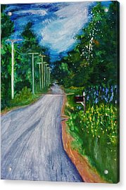 Country Road Acrylic Print by Nancy Milano