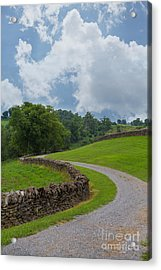 Country Road With Limestone Fence Acrylic Print by Kay Pickens