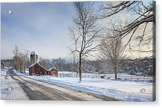 Country Roads Winter Acrylic Print
