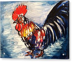 Country Rooster Acrylic Print