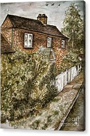Old English Cottage Acrylic Print by Teresa White