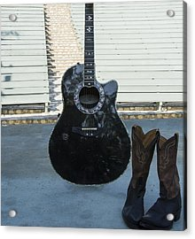 Acrylic Print featuring the photograph Country-rock Singer Wanted- by Renee Anderson