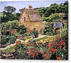 Country Stone Manor House Acrylic Print by David Lloyd Glover
