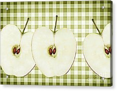 Country Style Apple Slices Acrylic Print by Natalie Kinnear