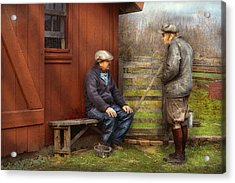 Country - The Farmhands Acrylic Print by Mike Savad
