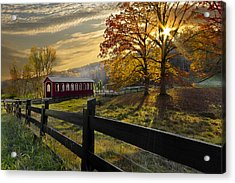 Country Times Acrylic Print by Debra and Dave Vanderlaan