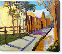 Country Village Acrylic Print