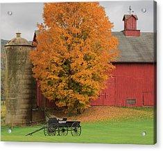 Country Wagon Acrylic Print by Bill Wakeley