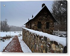 Country Winter Landscape  Acrylic Print