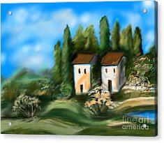Countryside Acrylic Print by Christine Fournier