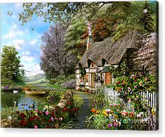 Countryside Cottage Acrylic Print by Dominic Davison