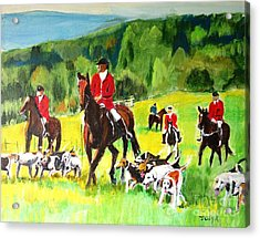 Countryside Hunt Acrylic Print by Judy Kay