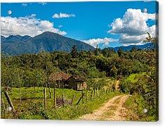 Countryside In Boyaca Colombia Acrylic Print by Jess Kraft