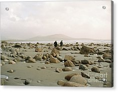Acrylic Print featuring the photograph Couple And The Rocks by Rebecca Harman