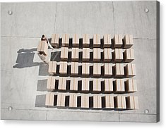 Couple Carrying Box Acrylic Print by Martin Barraud