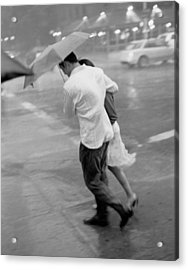 Couple In The Rain Acrylic Print