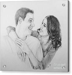 Acrylic Print featuring the drawing Couple by Mike Ivey