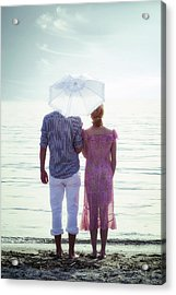 Couple On The Beach Acrylic Print by Joana Kruse
