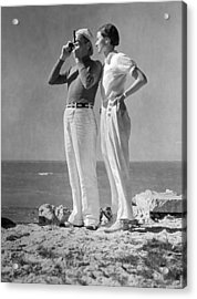 Couple On The Maine Shore Acrylic Print