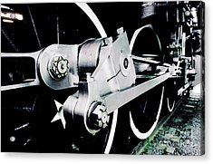 Coupling Rods And Driver Wheels For A Steam Locomotive Acrylic Print by Wernher Krutein