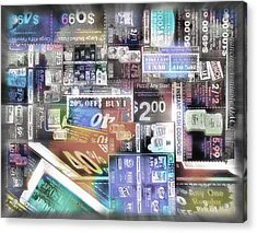 Coupon Collage 2 Acrylic Print by Steve Ohlsen