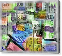 Coupon Collage Acrylic Print by Steve Ohlsen
