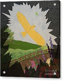 Courage Is The Bird That Soars Acrylic Print by Denise Hoag