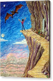 Acrylic Print featuring the painting Courage by Matt Konar