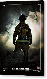 Courage Acrylic Print by Mitchell Brown