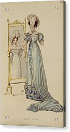 Court Dress, Fashion Plate Acrylic Print