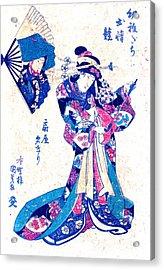 Courtesan Ogiya Yugiri 1830 Acrylic Print by Padre Art