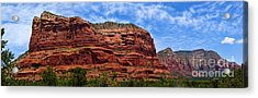 Courthouse Butte Rock Formation Sedona Arizona Acrylic Print by Amy Cicconi