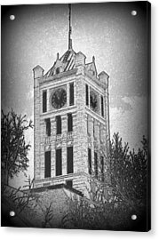 Courthouse Clocktower 5 Acrylic Print by Mark Herman