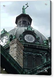 Courthouse Dome In Binghamton Ny Acrylic Print by Sally Simon