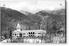 Courthouse Snow 2014 Acrylic Print