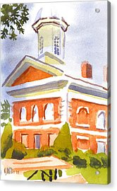 Courthouse With Picnic Table Acrylic Print by Kip DeVore